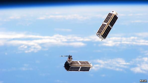 Nanosatellites, image from NASA